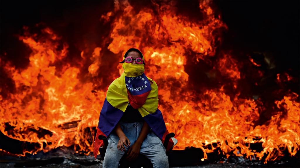 A Venezuela em chamas