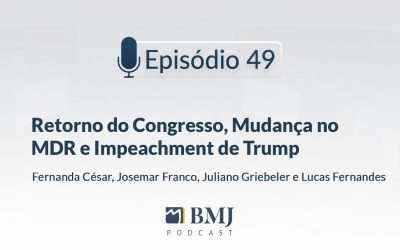 Retorno do Congresso, Mudança no MDR e Impeachment de Trump