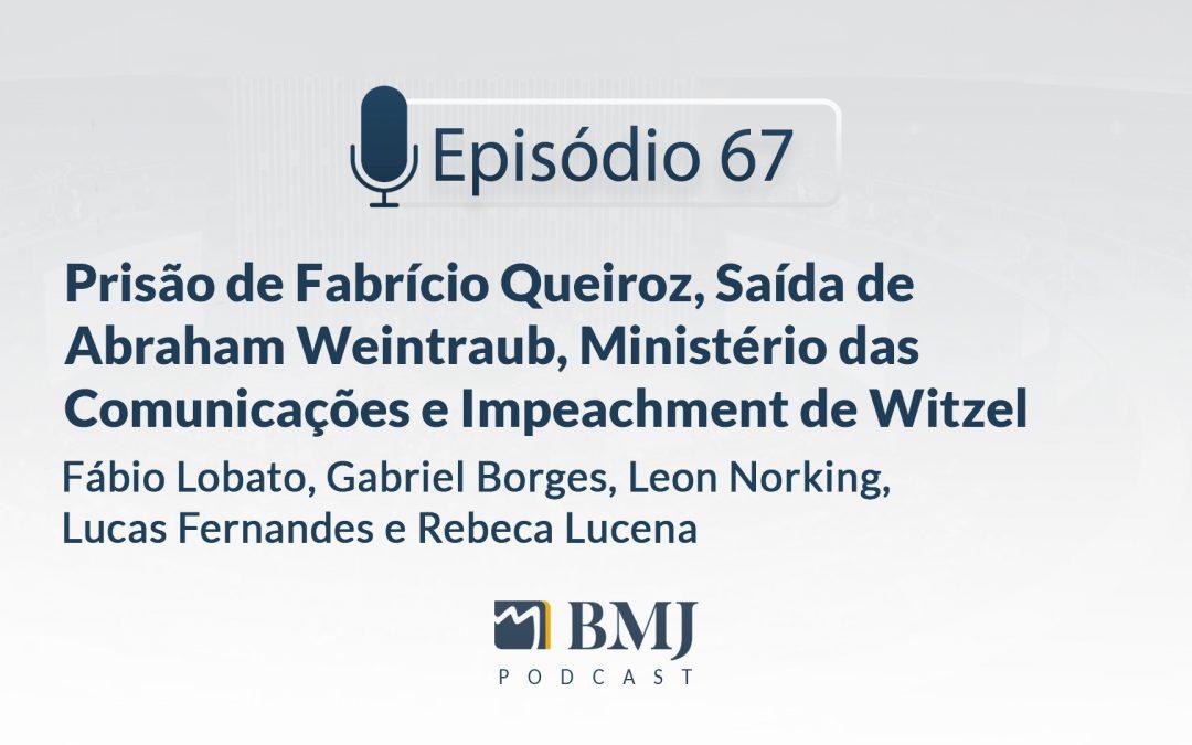 Prisão de Fabrício Queiroz, Saída de Abraham Weintraub, Ministério das Comunicações e Impeachment de Wilson Witzel