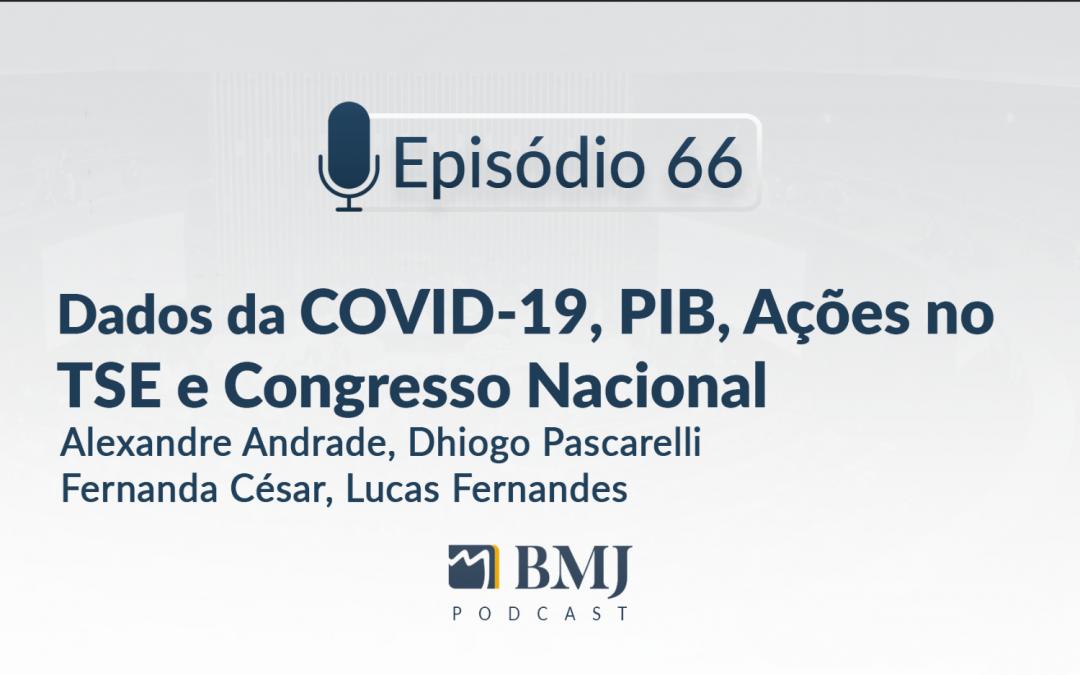 Dados da COVID-19, PIB, Ações no TSE e Congresso Nacional