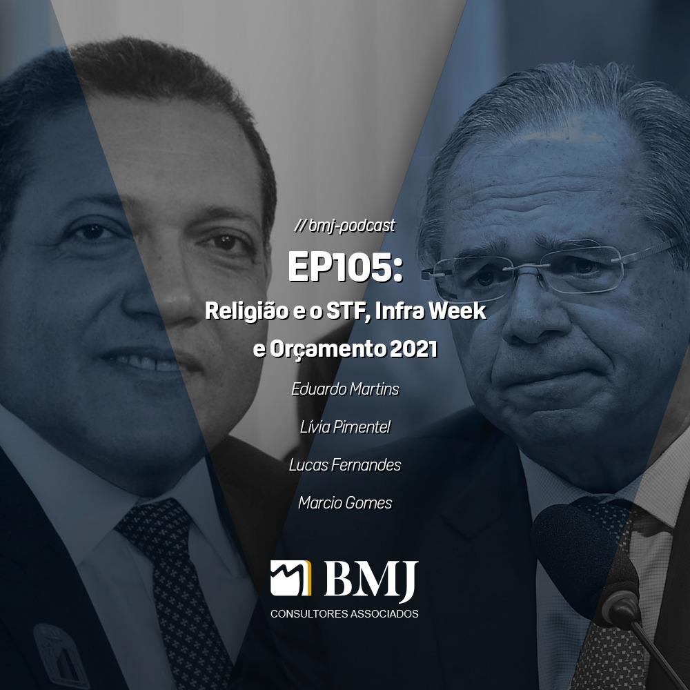Religião e o STF, Infra Week e Orçamento 2021